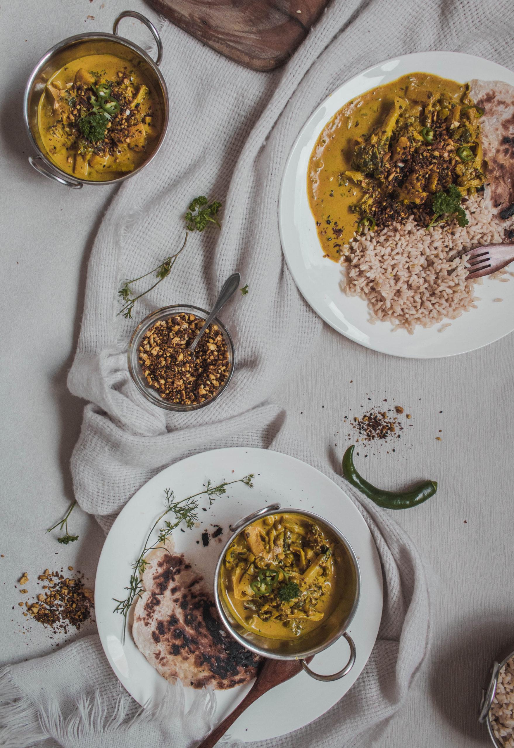 Pineapple, Broccoli, Fenugreek and Kaffir Lime Curry with Dukkah-5