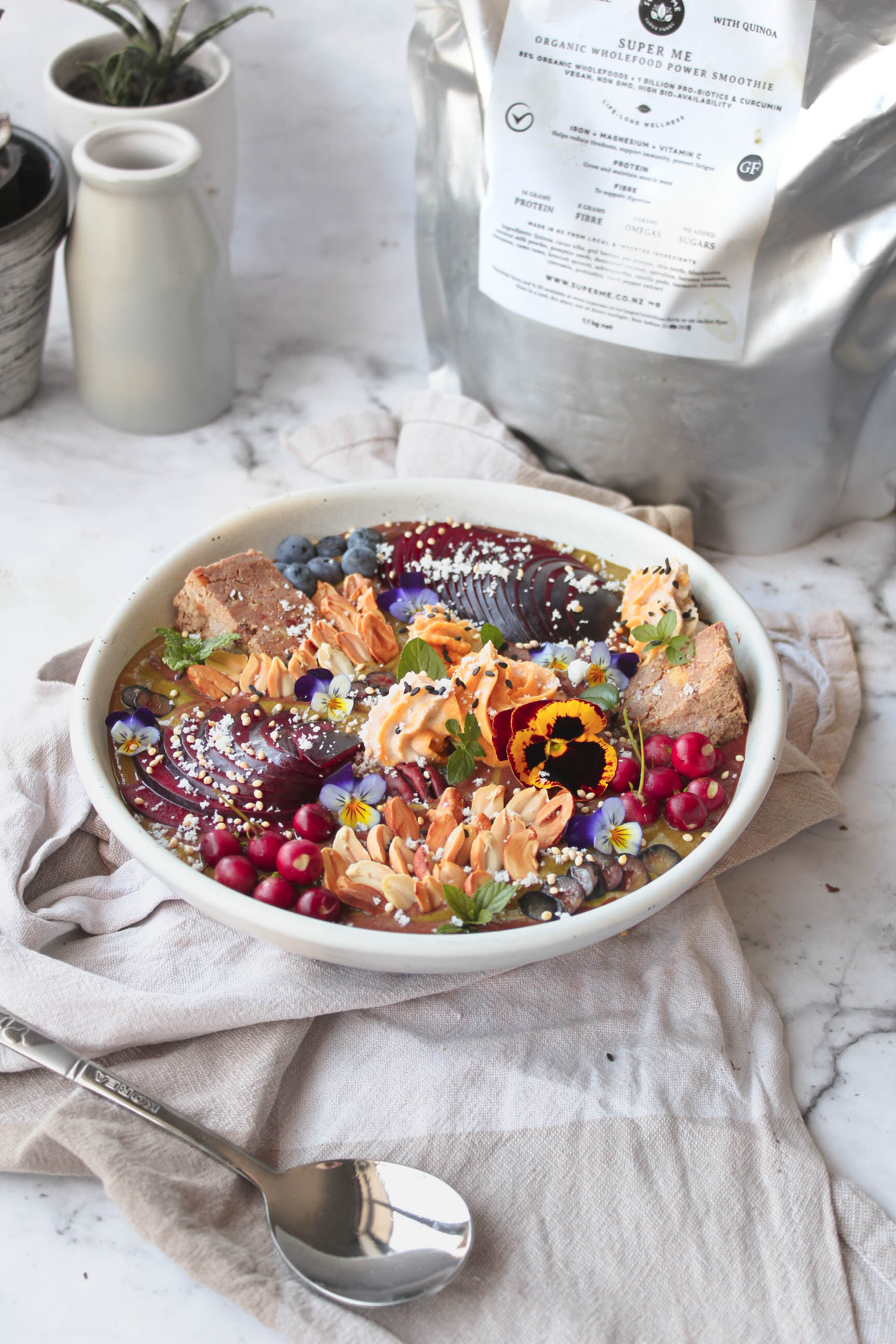 Spiced Plum and Salted Caramel Superfood Smoothie Bowl-11